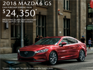 Get the 2018 Mazda6 Today!