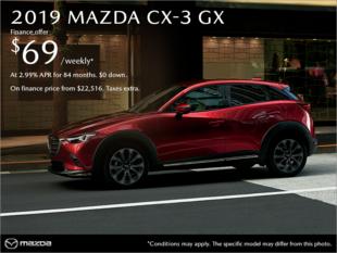 Regina Mazda - Get the 2019 Mazda CX-3 today!