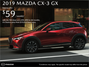 Gerry Gordon's Mazda - Get the 2019 Mazda CX-3 today!