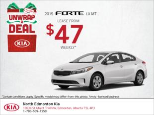 Get a new 2019 Kia Forte!