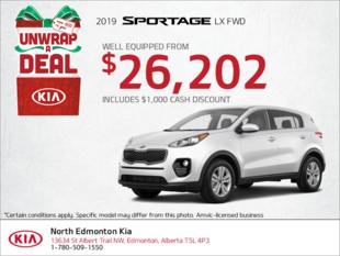 Get a new 2019 Kia Sportage!