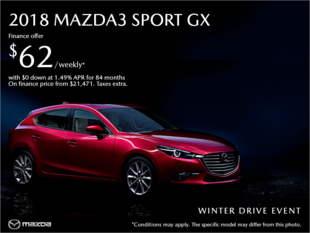Regina Mazda - Get the 2018 Mazda3 Sport today!