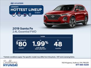 Get the 2019 Santa Fe!