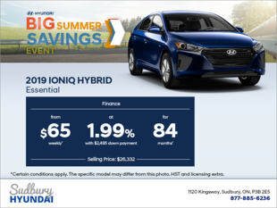 Finance the 2019 IONIQ Hybrid!