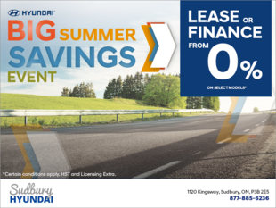 The Hyundai Big Summer Savings Event!
