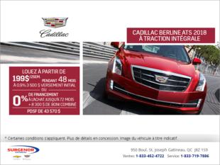 Cadillac ATS Berline 2018 à traction intégrale