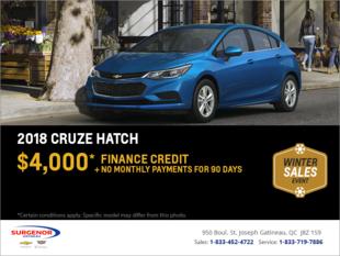 Get the 2018 Chevrolet Cruze Hatchback
