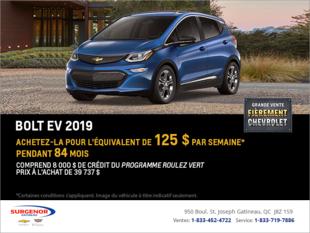 Obtenez la Chevrolet Bolt 2019