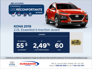 Louez la Kona 2019!