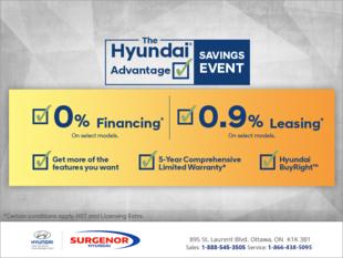 The Hyundai advantage saving Event!