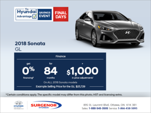 Finance the 2018 Sonata!