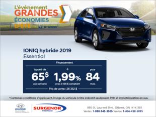 Financez la IONIQ hybride 2019!