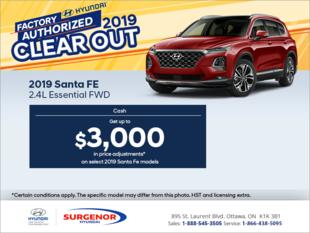 Get the 2019 Sante Fe!