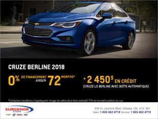 Chevrolet Cruze Berline 2018
