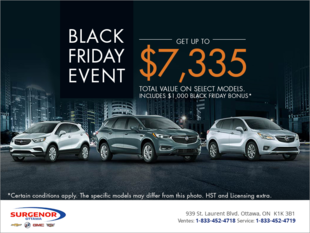 Buick's Black Friday Event!