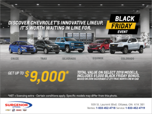 Chevrolet's Black Friday Event!