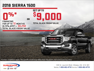 The 2018 GMC Sierra 1500