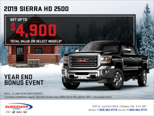 The 2019 Sierra 2500 HD