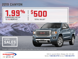 The 2019 GMC Canyon