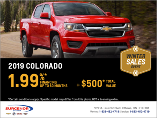 Finance the 2019 Chevrolet Colorado