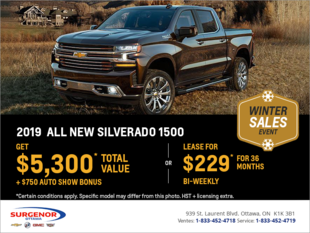 Get the All New 2019 Chevrolet Silverado