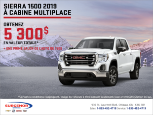 Le tout nouveau Sierra 1500 2019