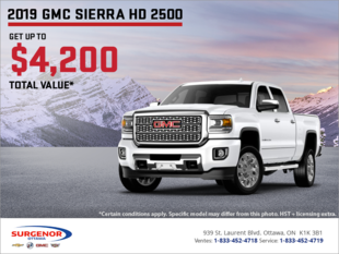 The 2019 GMC Sierra HD 2500