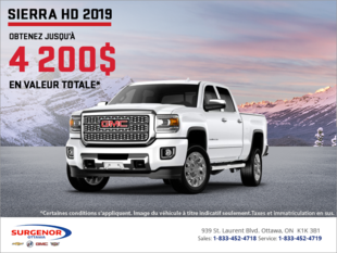 Le GMC Sierra 2500 HD 2019