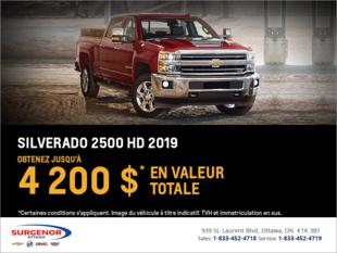 Obtenez le Chevrolet Silverado HD 2019