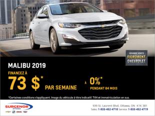 Financez la Chevrolet Malibu 2019