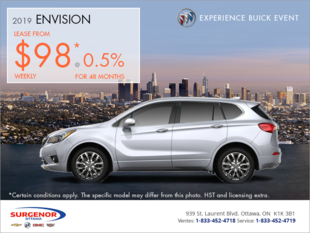 Lease the 2019 Buick Envision