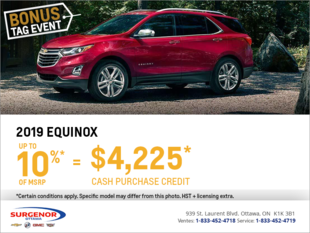 Get the 2019 Chevrolet Equinox