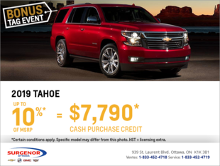 Get the 2019 Chevrolet Tahoe