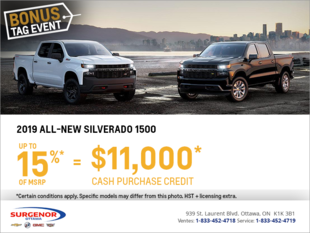 Get the All-New 2019 Chevrolet Silverado