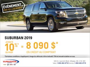 Obtenez le Chevrolet Suburban 2019