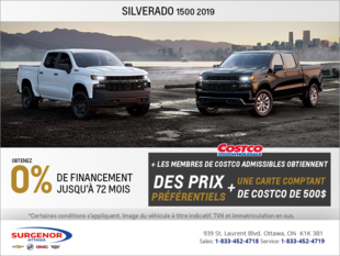 Obtenez le tout nouveau Chevrolet Silverado 2019!