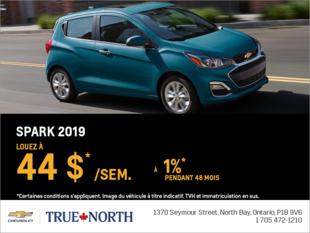 Louez le Chevrolet Spark 2019
