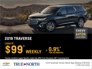 Lease the 2019 Chevrolet Traverse