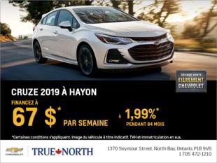 Obtenez la Chevrolet Cruze à hayon 2019