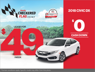 Get the 2018 Honda Civic Today!