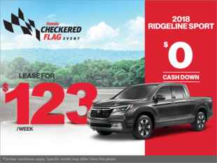 Get the 2018 Honda Ridgeline!