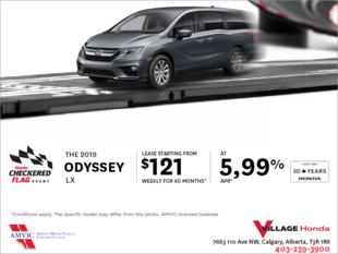 Get a 2019 Honda Odyssey Today!
