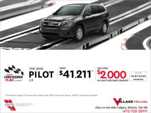 Get a 2019 Honda Pilot Today!