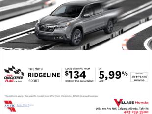 Get a 2019 Honda Ridgeline Today!