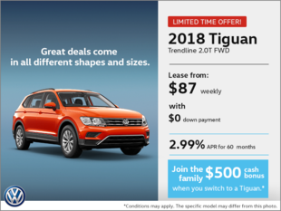 Lease the 2018 Tiguan!