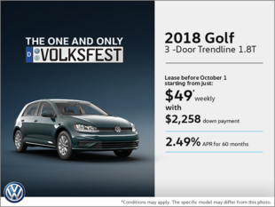 Get the 2018 Golf 3-Door!
