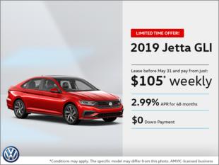 Get the All-New 2019 Jetta GLI