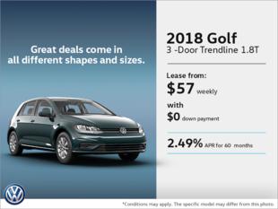 Lease the 2018 Golf 3-Door!
