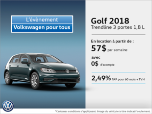 Louez la Golf 3 portes 2018 dès aujourd'hui!