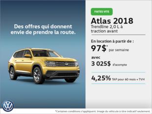 Louez l'Atlas 2018 dès aujourd'hui!